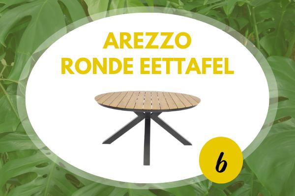 Robbies Tuinmeubelen Top 10 2021 - Arezzo ronde tuintafel