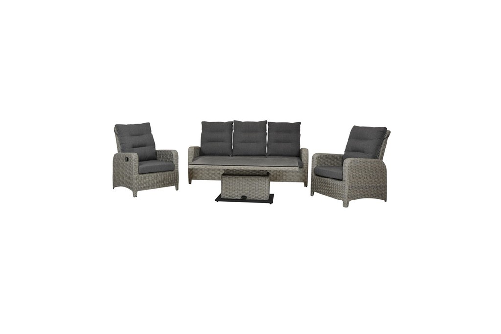 Loungeset Bank 2 Fauteuils.Loungeset Hollywood Robbies Tuinmeubelen