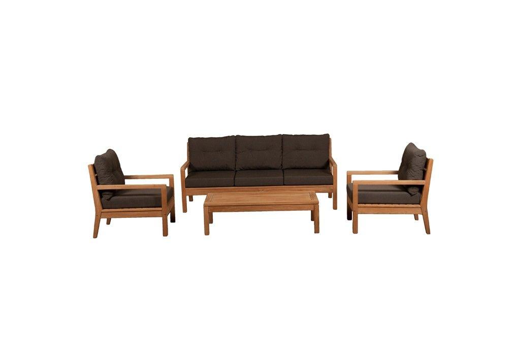 Sabang 3-zits/2 x fauteuil/salontafel