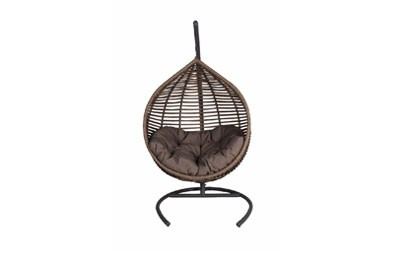 Modern hangstoel naturel